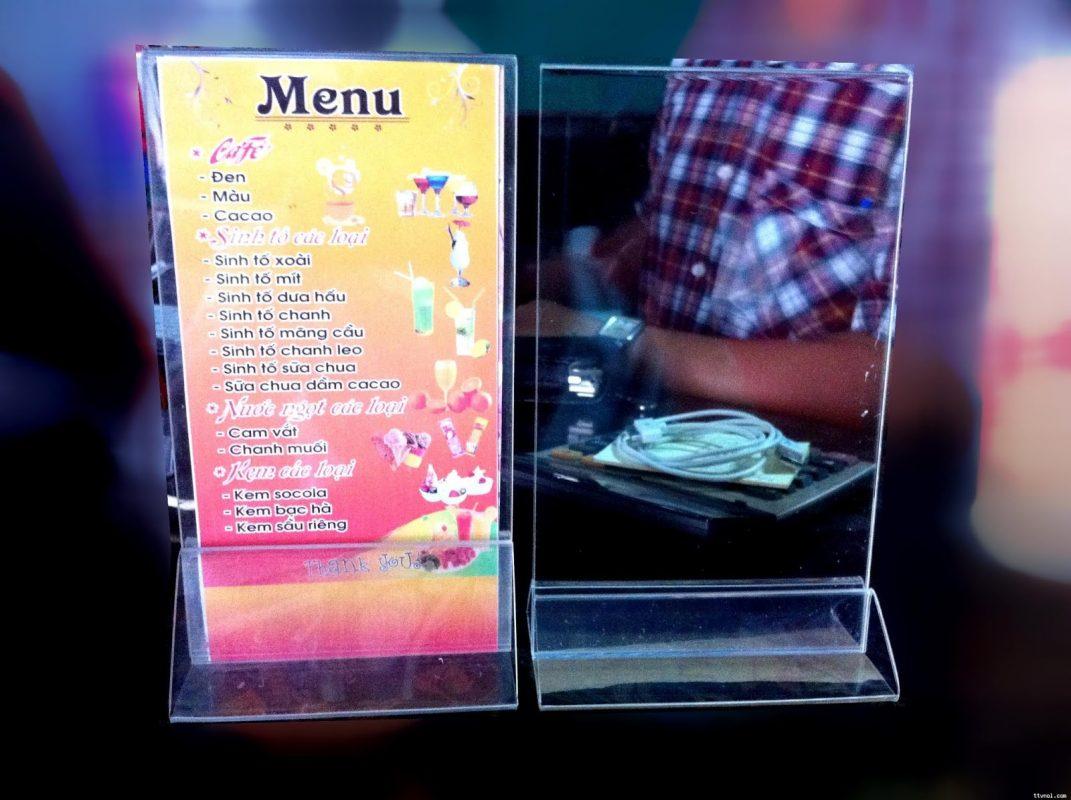 bảng menu mica giá rẻ