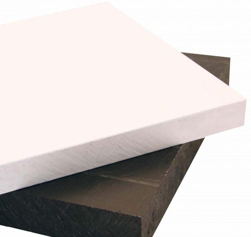 tấm nhựa hdpe trắng và đen