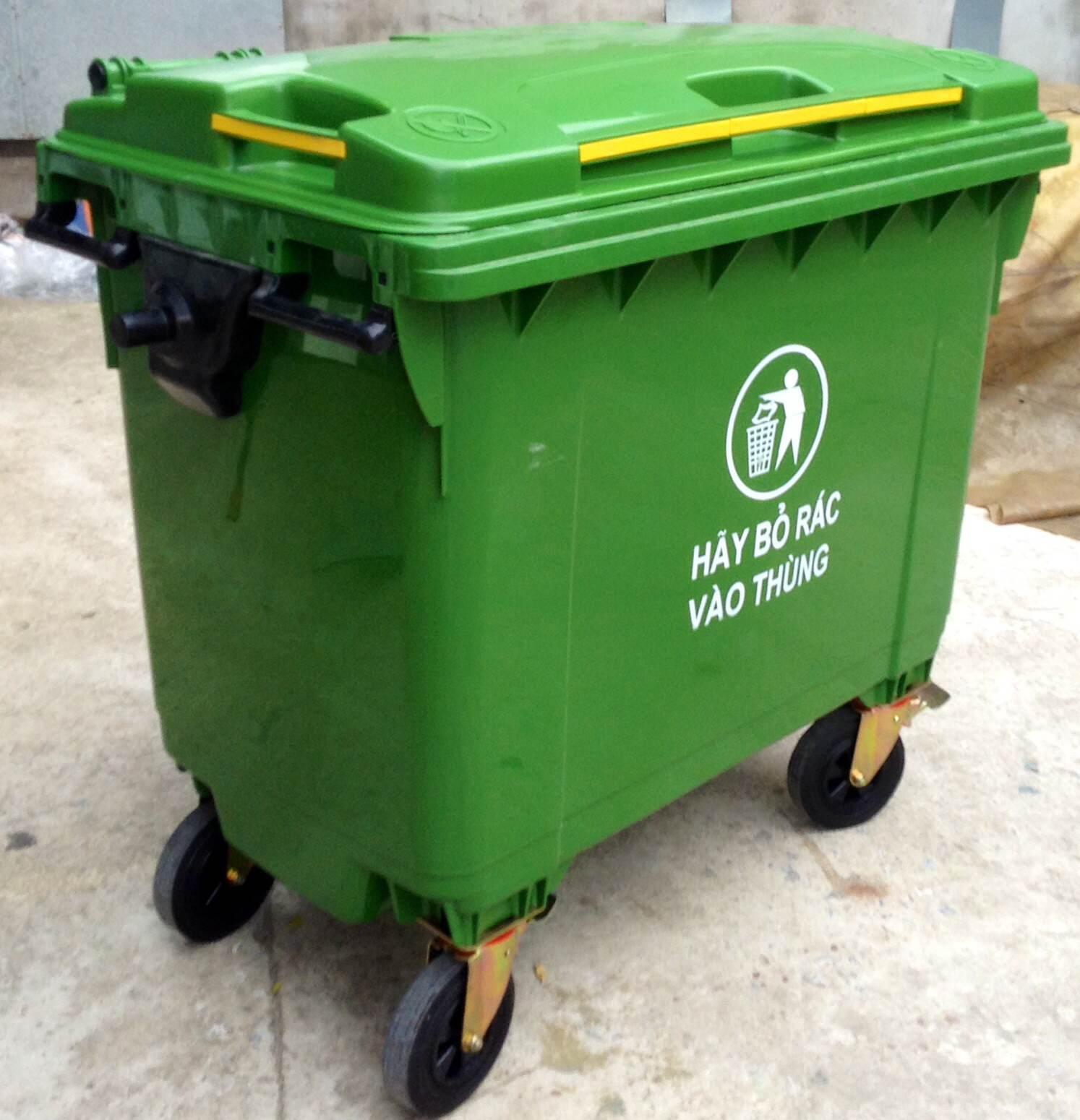 Nhựa HDPE được dùng làm thùng đựng rác